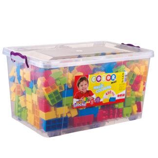 DOLU Velké kostky v plastovém boxu