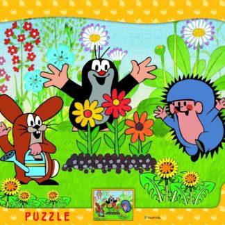 Puzzle Krteček zahradník 12 dílků