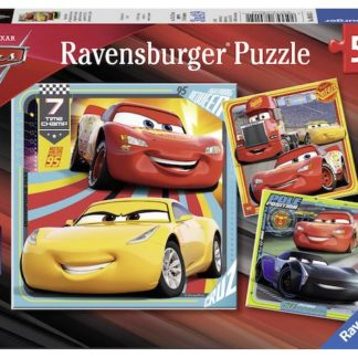 Puzzle 3x49 dílků Disney Auta 3
