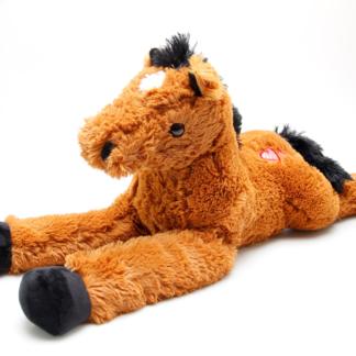 Plyšový kůň hnědý 80 cm