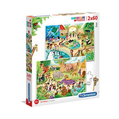 Puzzle Supercolor 2x60 dílků Zoo