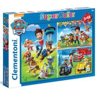 Puzzle Suppercolor Tlapková patrola 3x48 dílků